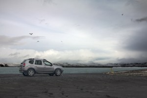4WD Dacia Duster by side of road